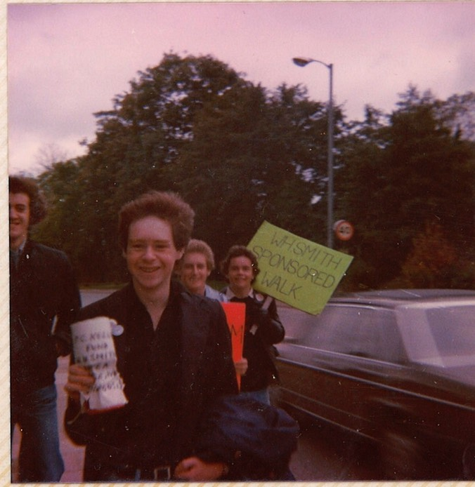 Ian Sponsored walk WH Smiths late 1970s